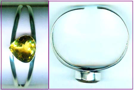 Silver wholesale gem stone bangle collection-w8bb015