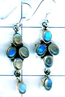Silver export collection gem stone earring-w8e028