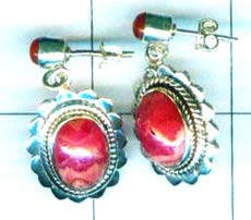 A Silver export collection gem stone earring-w8e054