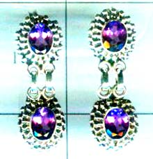 Silver export collection gem stone earring-w8e064