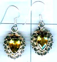 Silver export collection gem stone earring-w8e066