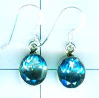 Silver export collection gem stone earring-w8e068