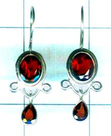 Silver export collection gem stone earring-w8e072