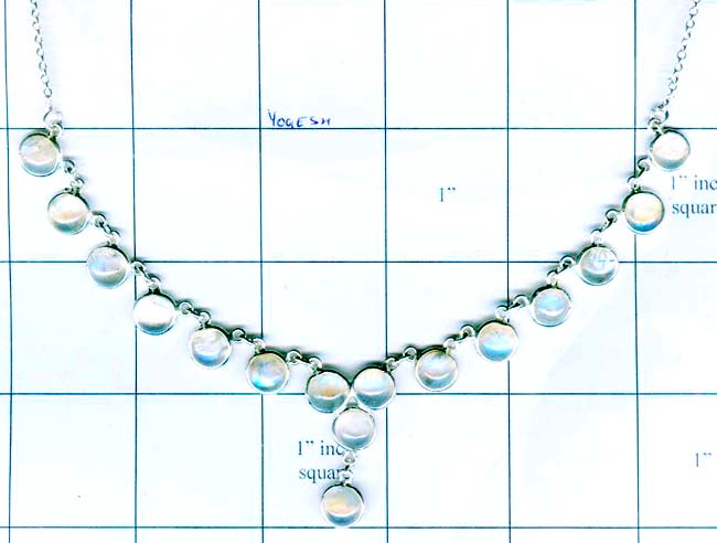 Silver gem stone necklace collection-w8n027