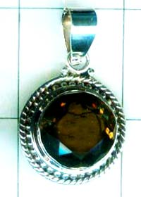 Silver 925 faceted pendant-w8p096