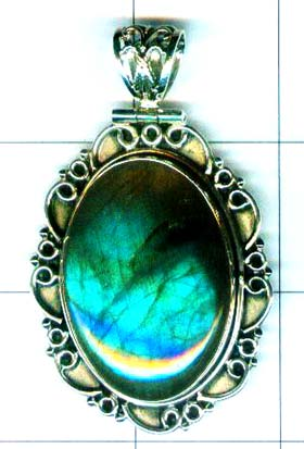 Sterling Silver Gem stone pendant-w9p119