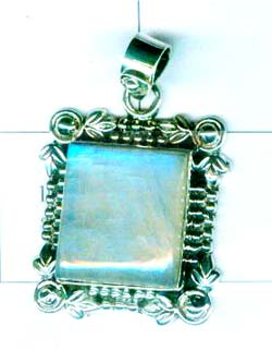 Gem stone and Silver Pendant-w9p123