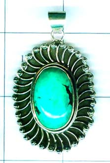Gem stone and Silver Pendant-w9p128