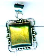Gem stone and Silver Pendant-w9p135