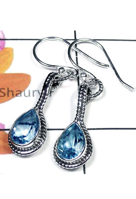 Exclusive Blue Topaz silver Earring-BTE006