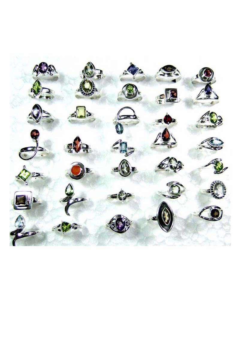CBSR002-50 Pcs Assortment Cut Mix Rings