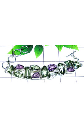 Faceted gems cluster Bracelet-CLB003