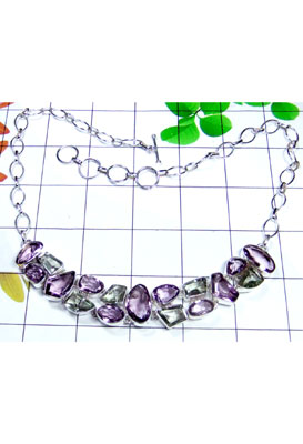 Wholesale silver jewelry cluster Necklace-CLN004