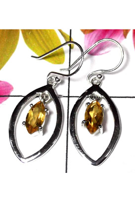 Sterling silver Citrine gems Earring-CTE001