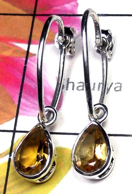 925 Sterling silver Citrine Earring-CTE003