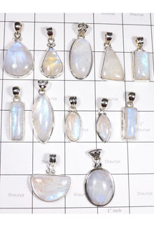 WSL993-100 gram Wholesale Lot Firey Rainbow Moonstone Combo Pack 12 Pcs