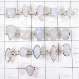 WSR998-Rainbow Moonstone 100 gram Wholesale Lot Made in 925 Sterling Silver 16 Pcs