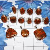 WSR993-Geniune Copper Red Turquoise Gemstone 100 gram Wholesale Lot Rings and Pendants 13 pcs