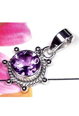 Small silver with Amethyst Pendant-IAP007