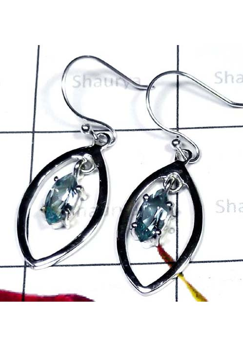 Stunning Earring with Cut Blue Topaz-ICE002