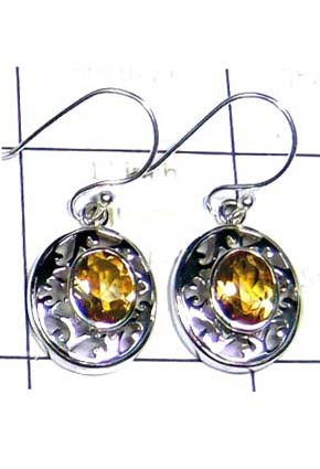 Cut Citrine Gorgeous Earring-ICE005