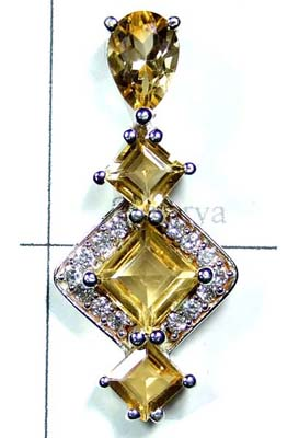 Exclusive Sterling silver Citrine Pendant-ICP025