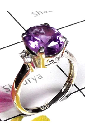 Exclusive Designer silver gems Ring-ICR038