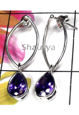 Iolite gems Faceted Earring-ILE003