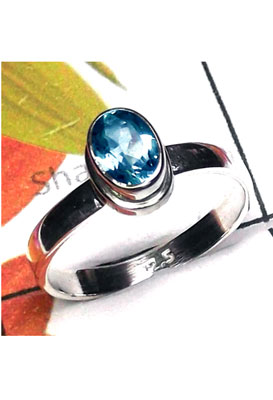 925 Sterling silver Low cost Blue Topaz Ring-ILR048