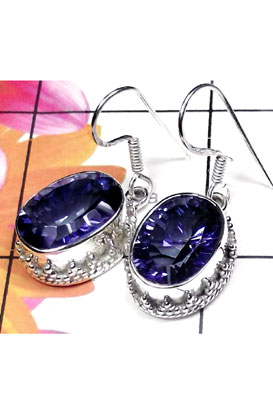 Classic silver gems Blue Mystic Earring-IMSE002