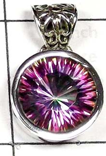 Bright Mystic Quartz Pendant-IP008