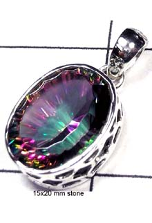 Beautiful Mystic quartz silver Pendant-IP014