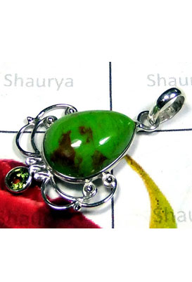 Mohave green Turquoise Bejal Pendant-IP037