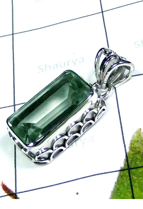 Wholesale silver Green Amethyst Pendant-IP061