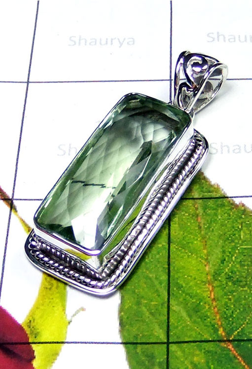 Beautiful Pendant with Green Amethyst-IP075