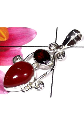 Beautiful Carnelian gems with silver Pendant-IP077