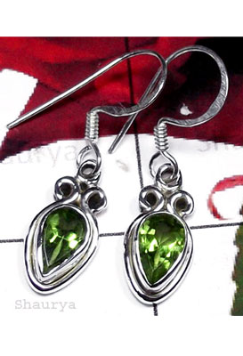 Faceted gems with sterling silver Earring-IPE002