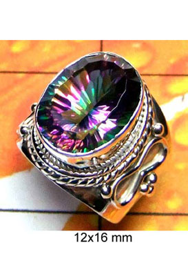 Exclusive Designer silver Ring with Mystic-IR007