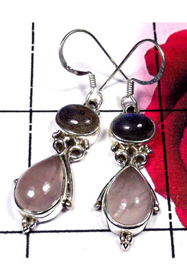 Cabochon silver Earring-ISE012