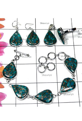 Blue copper Turquoise Set-ISET002
