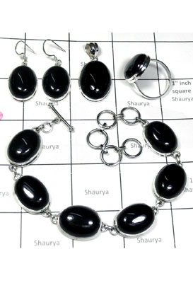 925 Sterling silver Onyx Set-ISET006