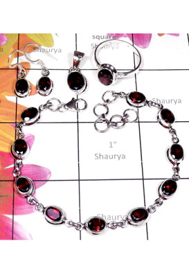Sterling silver semiprecious gems Set-ISET022