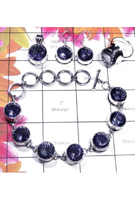 Blue Mystic with 925 Sterling silver Set-ISET032