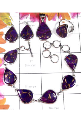 Wholesale silver gems jewelry Set-ISET040