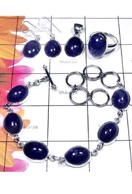 Tanzanite gems silver Set-ISET055