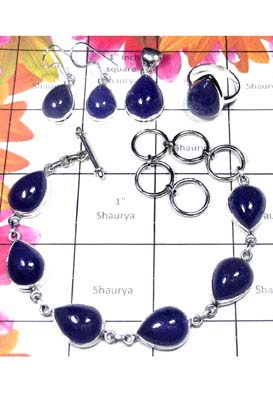 Sterling silver Tanzanite gems Set-ISET056