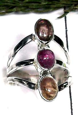 Sterling silver Tourmaline Ring-ITRR002