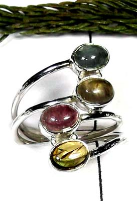 Tourmaline silver Ring-ITRR006
