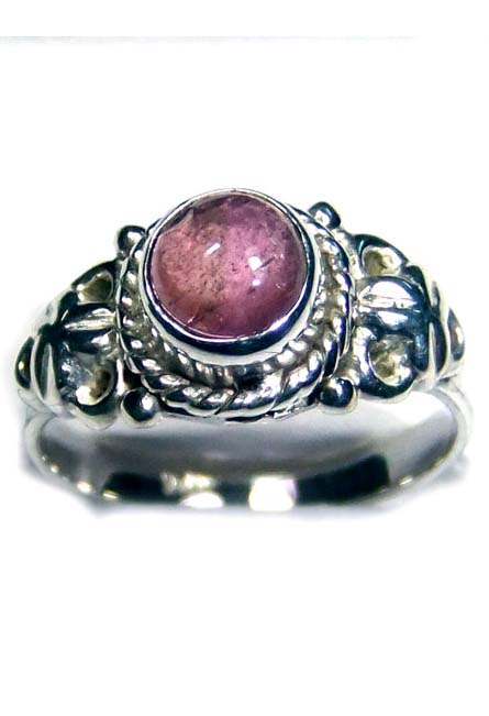 Tourmaline gems silver Ring-ITRR008