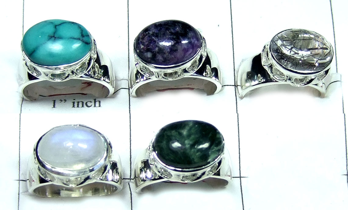 92.5 Sterling silver Mix Stone Value Pack-JVR003